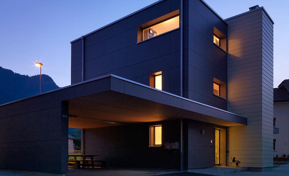 Moderne Aussenfassade
